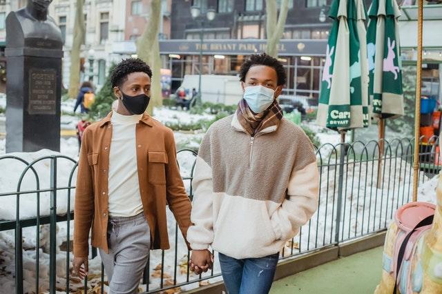two gays walking